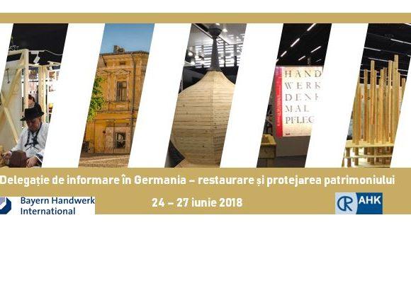 Delegație de informare în Germania pentru multiplicatori și companii din domeniul restaurării și protejării patrimoniului