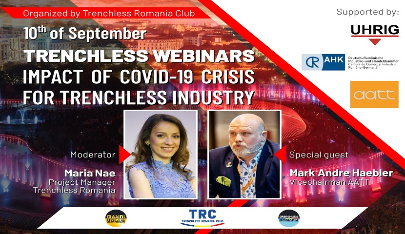 Trenchless Romania Webinar-Impact of COVID-19 crisis on trenchless industry, 10th of September 2020