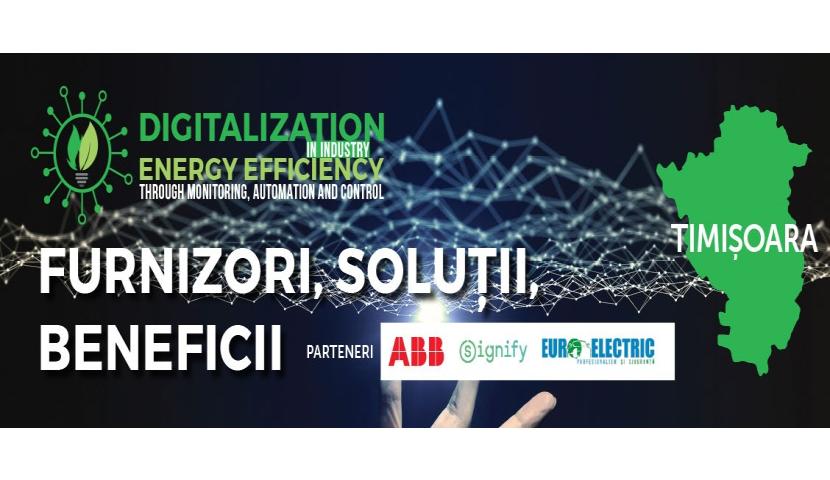 Eveniment Energynomics – Digitalizare și Eficiență energetică în industrie – furnizori, soluții, beneficii (6 octombrie 2020)