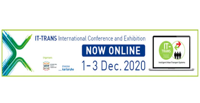 IT-TRANS, Conferință internațională și expoziție privind sistemele inteligente de transport urban, 1-3 decembrie 2020, Online